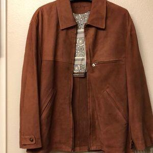 Salvatore Ferragamo Leather Jacket Suede Size L